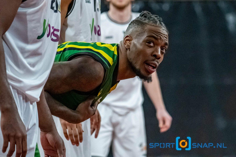 13-02-2021: Basketbal: The Hague Royals v Yoast United: Den Haag Basketbal Dutch Basketball League 2021 Eric Mania Kibi of The Hague Royals